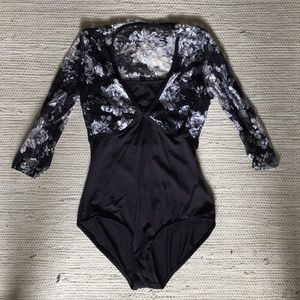 Ashley Bouder brand black leotard